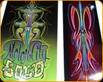 World Class Pinstriping and Hand Lettering by Casey Kennell from The Paint Chop