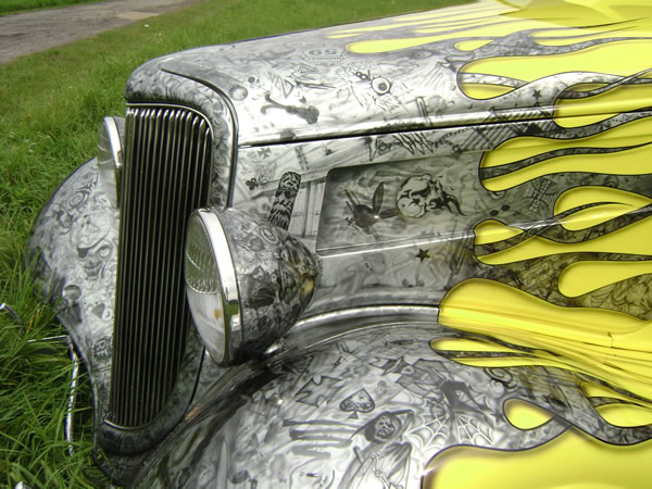 """Zz Top Car >> Pinstriping and Lettering by the THE PAINT CHOP """"Casey Kennell"""""""